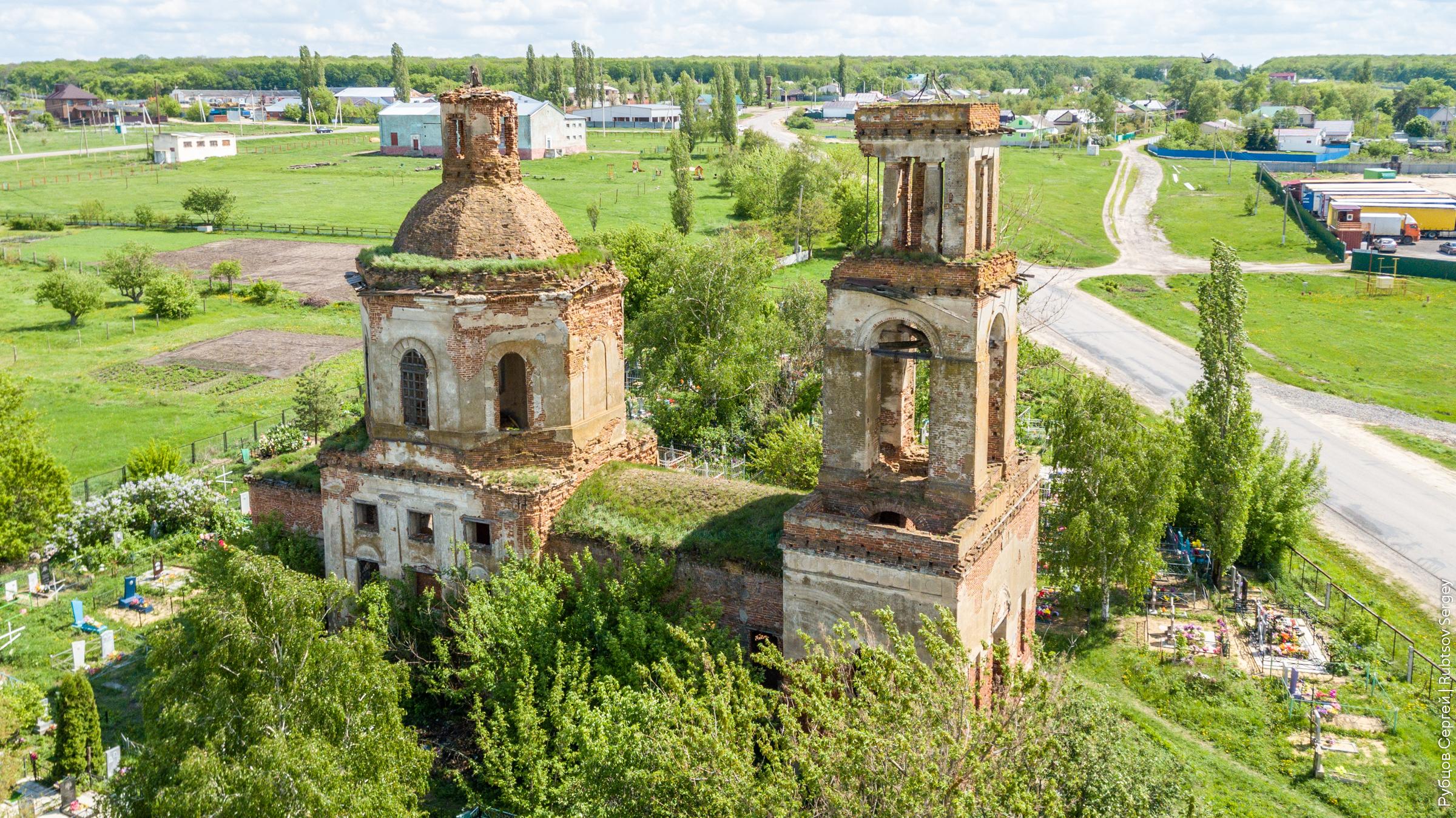 Заброшенная церковь Богоявления Господня в Губарево