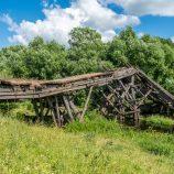 Рухнувший мост в Захаровке