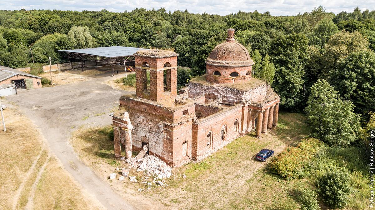 Заброшенный храм в Осово